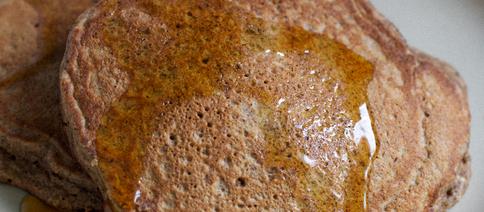 Amaranth Pecan Pancakes