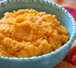 mashed butternut squash and potatoes