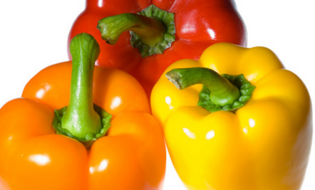 Cultured Yellow, Orange and Red Peppers