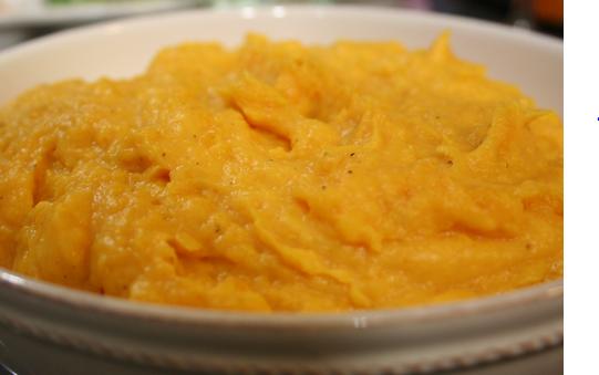 Mashed Butternut Squash and Cauliflower