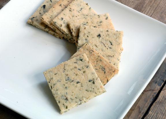 Salmon Salad and Almond Crackers